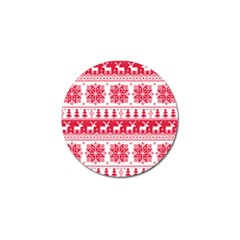 Christmas Patterns Golf Ball Marker