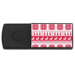 Christmas Patterns Usb Flash Drive Rectangular (4 Gb)