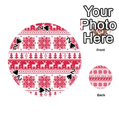 Christmas Patterns Playing Cards 54 (Round)