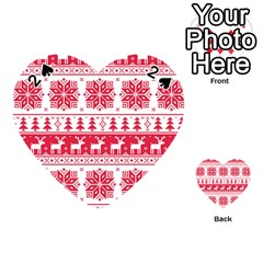 Christmas Patterns Playing Cards 54 (Heart)
