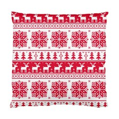 Christmas Patterns Standard Cushion Case (one Side)