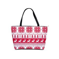Christmas Patterns Shoulder Handbags