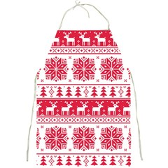 Christmas Patterns Full Print Aprons