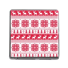 Christmas Patterns Memory Card Reader (square)
