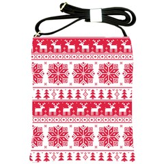 Christmas Patterns Shoulder Sling Bags