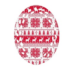 Christmas Patterns Oval Filigree Ornament (2 Side)