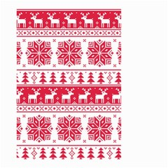 Christmas Patterns Small Garden Flag (two Sides)