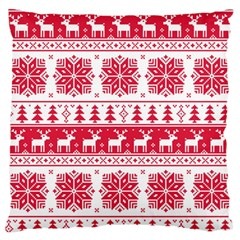 Christmas Patterns Large Flano Cushion Case (two Sides)