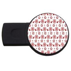 Christmas Pattern  Usb Flash Drive Round (2 Gb)