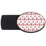 Christmas Pattern  USB Flash Drive Oval (4 GB)  Front