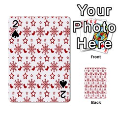 Christmas Pattern  Playing Cards 54 Designs