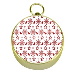 Christmas Pattern  Gold Compasses