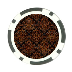 Damask1 Black Marble & Brown Marble Poker Chip Card Guard (10 Pack)