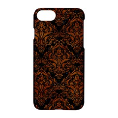 Damask1 Black Marble & Brown Marble Apple Iphone 7 Hardshell Case