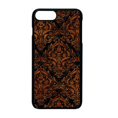 Damask1 Black Marble & Brown Marble Apple Iphone 7 Plus Seamless Case (black)