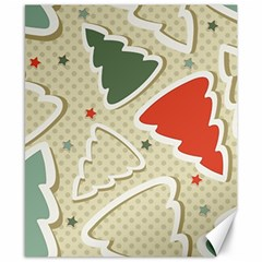 Christmas Tree Stars Pattern Canvas 8  X 10