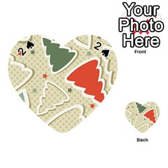 Christmas Tree Stars Pattern Playing Cards 54 (heart)