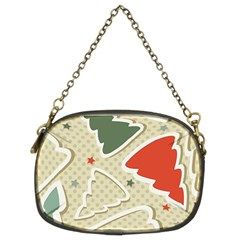 Christmas Tree Stars Pattern Chain Purses (two Sides)