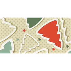 Christmas Tree Stars Pattern You Are Invited 3d Greeting Card (8x4)