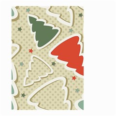 Christmas Tree Stars Pattern Small Garden Flag (two Sides)