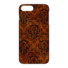 Damask1 Black Marble & Brown Marble (r) Apple Iphone 7 Plus Hardshell Case
