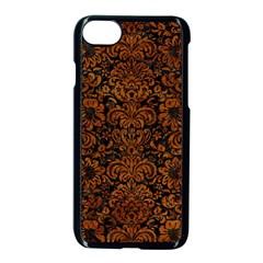 Dms2 Bk Br Marble Apple Iphone 7 Seamless Case (black)
