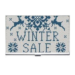 Christmas Elements With Knitted Pattern Vector   Business Card Holders