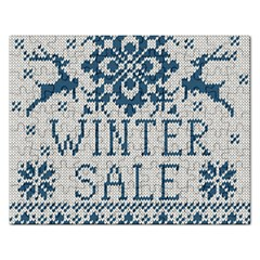 Christmas Elements With Knitted Pattern Vector   Rectangular Jigsaw Puzzl