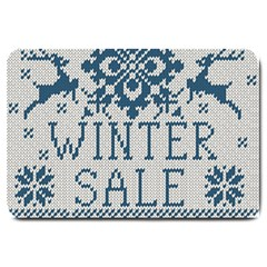 Christmas Elements With Knitted Pattern Vector   Large Doormat
