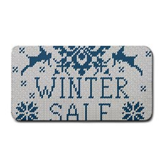 Christmas Elements With Knitted Pattern Vector   Medium Bar Mats