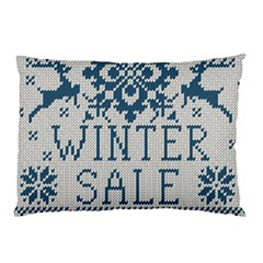 Christmas Elements With Knitted Pattern Vector   Pillow Case (two Sides)
