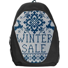 Christmas Elements With Knitted Pattern Vector   Backpack Bag