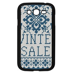 Christmas Elements With Knitted Pattern Vector   Samsung Galaxy Grand Duos I9082 Case (black)
