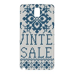 Christmas Elements With Knitted Pattern Vector   Samsung Galaxy Note 3 N9005 Hardshell Back Case