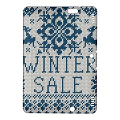 Christmas Elements With Knitted Pattern Vector   Kindle Fire Hdx 8 9  Hardshell Case
