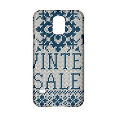 Christmas Elements With Knitted Pattern Vector   Samsung Galaxy S5 Hardshell Case