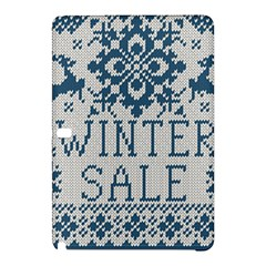Christmas Elements With Knitted Pattern Vector   Samsung Galaxy Tab Pro 12 2 Hardshell Case
