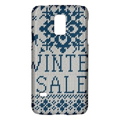 Christmas Elements With Knitted Pattern Vector   Galaxy S5 Mini
