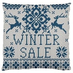 Christmas Elements With Knitted Pattern Vector   Standard Flano Cushion Case (one Side)