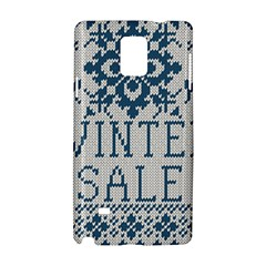 Christmas Elements With Knitted Pattern Vector   Samsung Galaxy Note 4 Hardshell Case