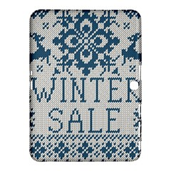 Christmas Elements With Knitted Pattern Vector   Samsung Galaxy Tab 4 (10 1 ) Hardshell Case