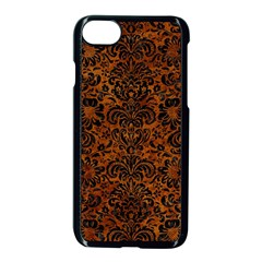Damask2 Black Marble & Brown Marble (r) Apple Iphone 7 Seamless Case (black)