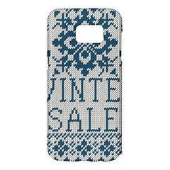 Christmas Elements With Knitted Pattern Vector   Samsung Galaxy S7 Edge Hardshell Case