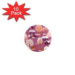 Cute Christmas Seamless Pattern 1  Mini Magnet (10 Pack)