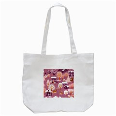 Cute Christmas Seamless Pattern Tote Bag (white)