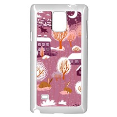 Cute Christmas Seamless Pattern Samsung Galaxy Note 4 Case (white)