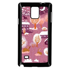 Cute Christmas Seamless Pattern Samsung Galaxy Note 4 Case (black)