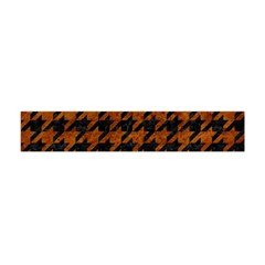 Houndstooth1 Black Marble & Brown Marble Flano Scarf (mini)