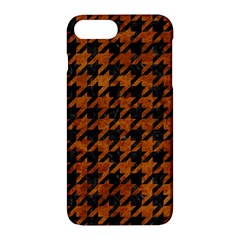 Houndstooth1 Black Marble & Brown Marble Apple Iphone 7 Plus Hardshell Case