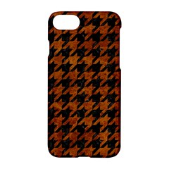 Houndstooth1 Black Marble & Brown Marble Apple Iphone 7 Hardshell Case